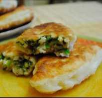 Обалденные пирожки с зеленым луком и яйцом, пожаренные дома на сковороде