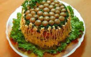 Салат «Лесная грибная поляна» / Рецепт с фото