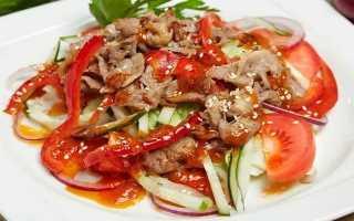 Салат со свининой – 7 потрясающих рецептов с фото