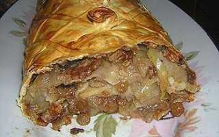 Рецепт штруделя с яблоками и орехами