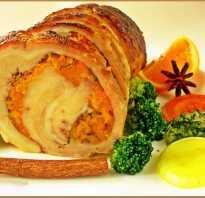 Вкусное блюдо для праздничного стола: рецепты приготовления рулета из свиной брюшины
