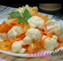 Цветная капуста по-корейски быстрого приготовления — настоящие рецепты