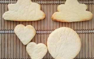 Сахарное печенье – пошаговые рецепты приготовления с фото