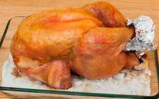 Курица в духовке целиком на соли — рецепты с хрустящей корочкой