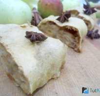 Штрудель из слоёного теста. Штрудель с грушами, яблоками, ромовым изюмом и фундуком.