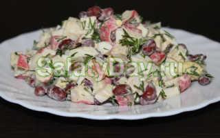Салат с фасолью и крабовыми палочками – 7 быстрых рецептов приготовления вкусного салата