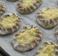 Рецепт калиток из ржаной муки с картошкой