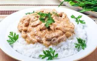 Рецепт бефстроганов из свинины со сметаной