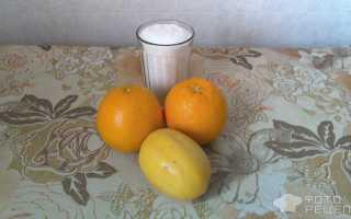 Домашний сок из апельсинов и лимона