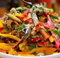 Салат из баклажанов – оригинальные идеи приготовления вкусной и пикантной закуски