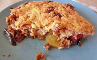 Рецепт мусака с баклажанами и картофелем с фото