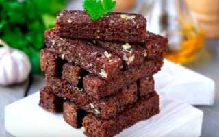 Гренки из черного хлеба с чесноком и не только. Как приготовить вкусные сухарики в духовке и на сковороде