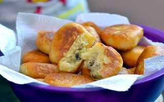 Пирожки с картошкой жареные на сковороде:разыне рецепты теста и начинки