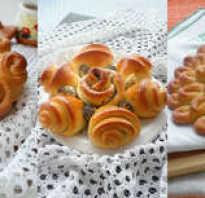 Как красиво сделать булочки: фото