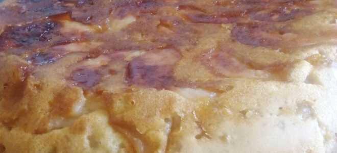 Пышная шарлотка с яблоками в мультиварке — рецепт для лентяек
