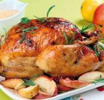 Курица, запеченная целиком в духовке