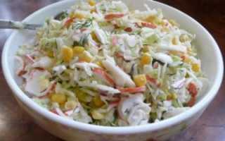 Салат с крабовыми палочками и капустой — рецепт от кулинаров
