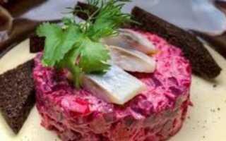 Пошаговый рецепт приготовления винегрета с селедкой