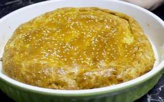 Пирог с мясом на кефире: рецепт с фото