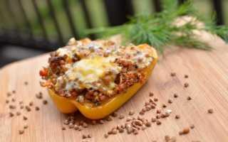 Перец фаршированный гречкой и мясом рецепт с фото