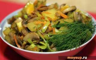 Грибы и картофель – вкусные ингредиенты для простого салата