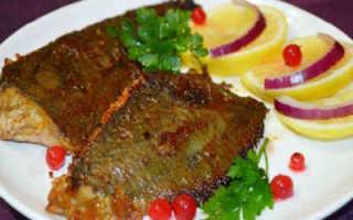 Рецепт приготовления жареной камбалы на сковороде