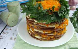 Очень вкусный печёночный торт из куриной печени. Рецепт с фото пошагово