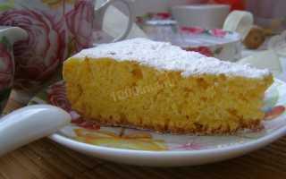 Пирог или кекс из тыквы рецепт в мультиварке
