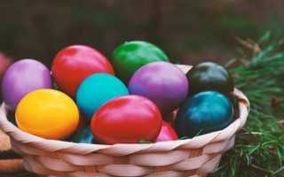 Как покрасить яйца на пасху разными способами