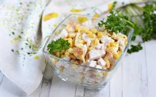 Салат с курицей и блинчиками рецепт с фото