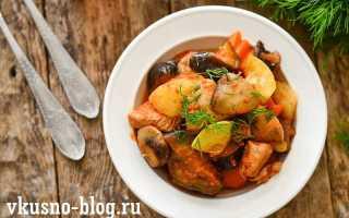Рецепты курицы с грибами и овощами