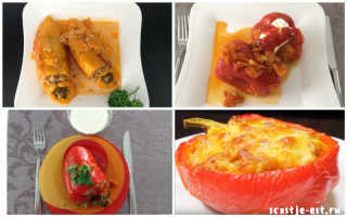 Рецепт фаршированных перцев с фаршем и рисом