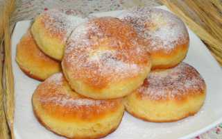 Рецепт пышки со сметаной и сахаром