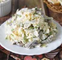 Рецепт приготовления салата из куриных сердечек