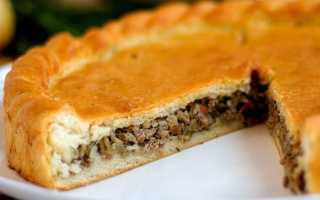 Пошаговый рецепт вкусного пирога с мясом и капустой