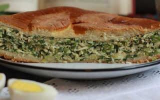 Пирог с яйцом и зеленым луком в духовке, рецепт с фото
