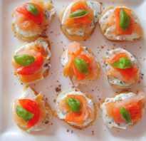 Канапе с рыбой: рецепты с фото