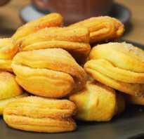 Печенье творожное с сахаром