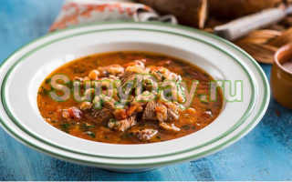 Пошаговый рецепт приготовления фасолевого супа с мясом