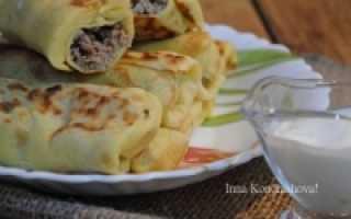 Блинчики с мясом — вкусные рецепты блинов с мясной начинкой