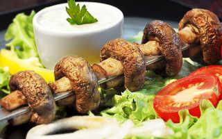 Рецепты шашлыков из шампиньонов: как мариновать грибы для шашлыка на мангале