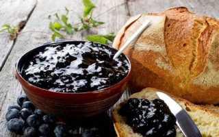 Простой рецепт приготовления варенья из черники на зиму