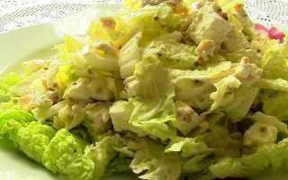 Рецепты салата с капустой и курицей