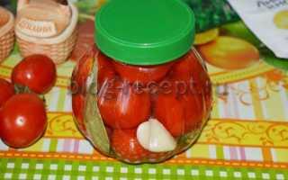 Маринованные помидоры, рецепт на зиму в банках, с лимонной, черри