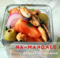 Салат с мидиями – 8 рецептов с фото пошагово