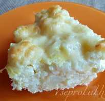 Цветная капуста, запеченная с сыром и яйцами