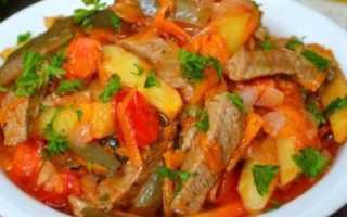 Азу по-татарски с солеными огурцами – очень вкусные рецепты блюда с разным мясом