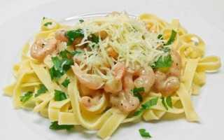 6 лучших рецептов пасты с креветками в сливочном соусе