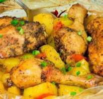 Курица с картошкой в рукаве в духовке: рецепт пошаговый с фото