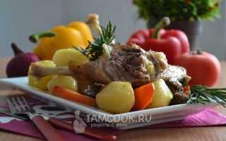 Жаркое из гуся с картошкой в духовке